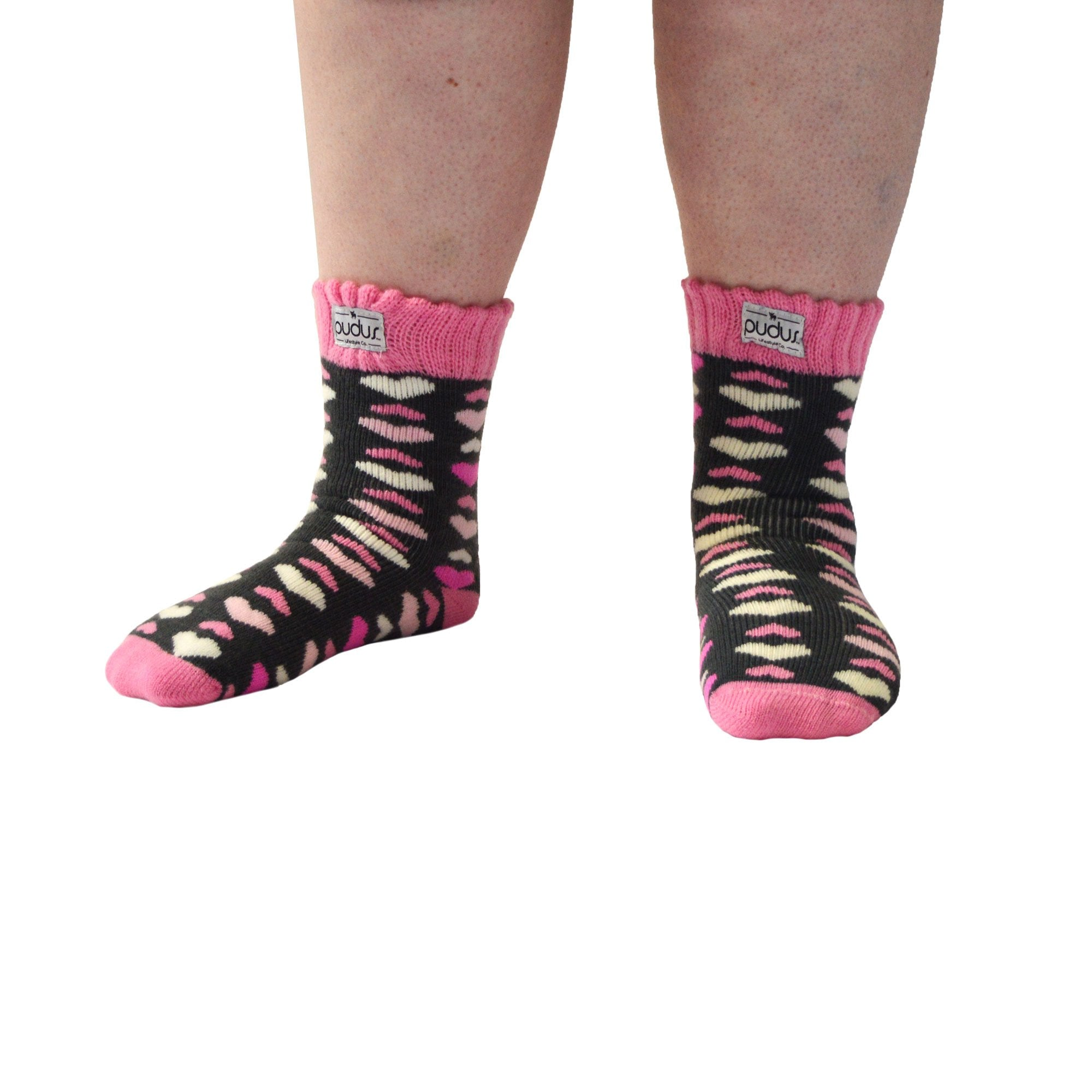 Boot Socks | Heart Pink | Large Short