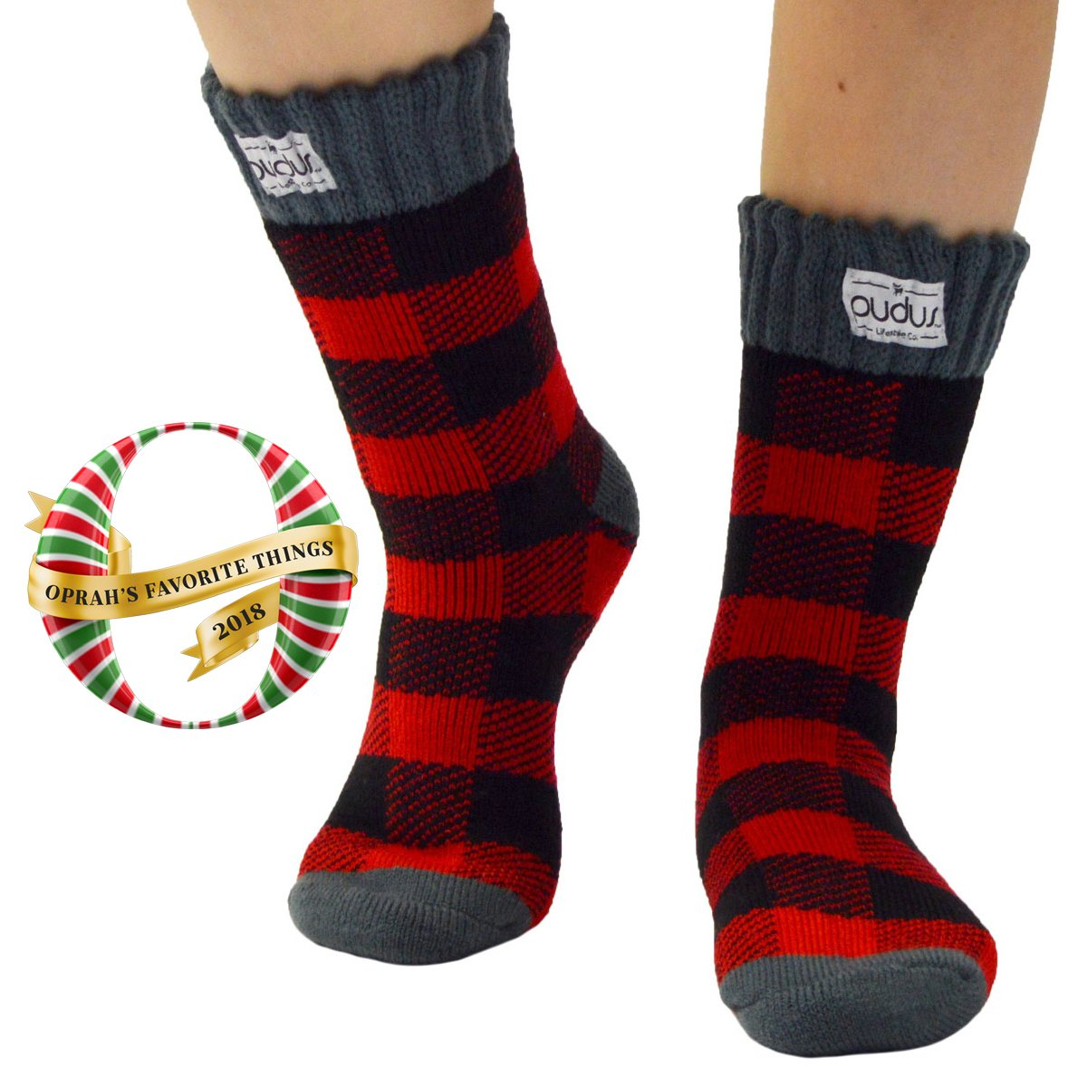 Boot Sock Lumberjack Red Adult Short