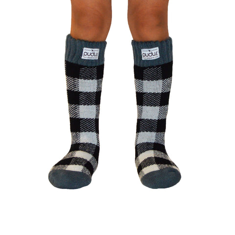 Boot Socks | Lumberjack White | Kids Tall