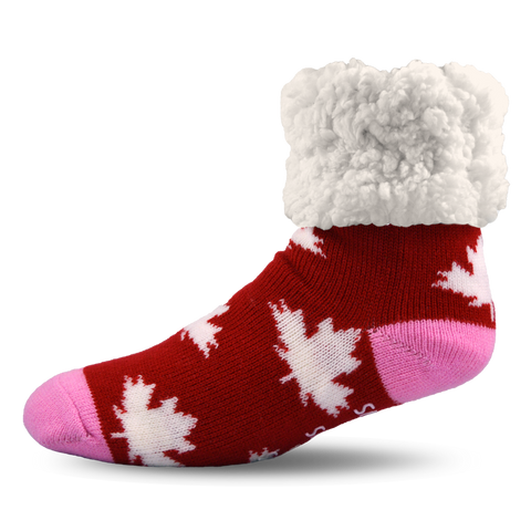Classic Slipper Socks | Canadian Pride