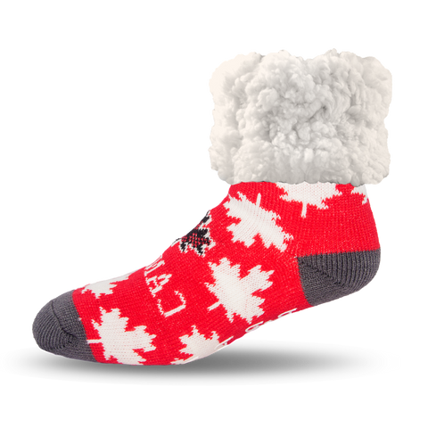 Classic Slipper Socks | Lumberjack Leaf