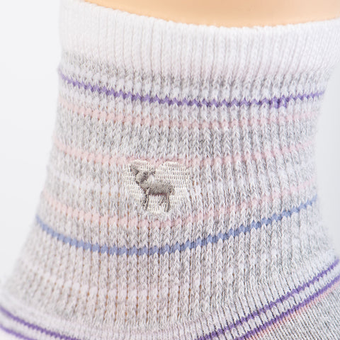 Cushioned Socks | Comfy Quarter Crew | Seaside Grey