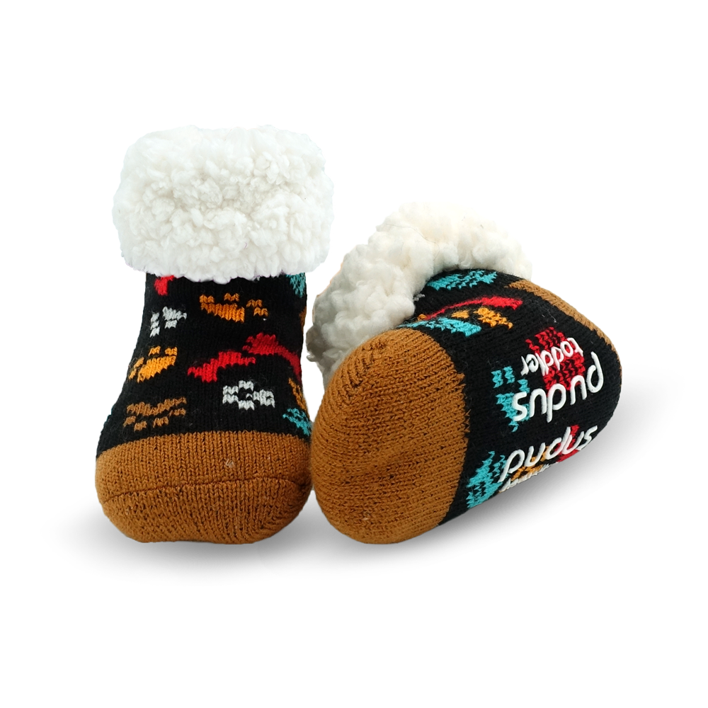 Toddler Classic Slipper Socks | Dog Paw