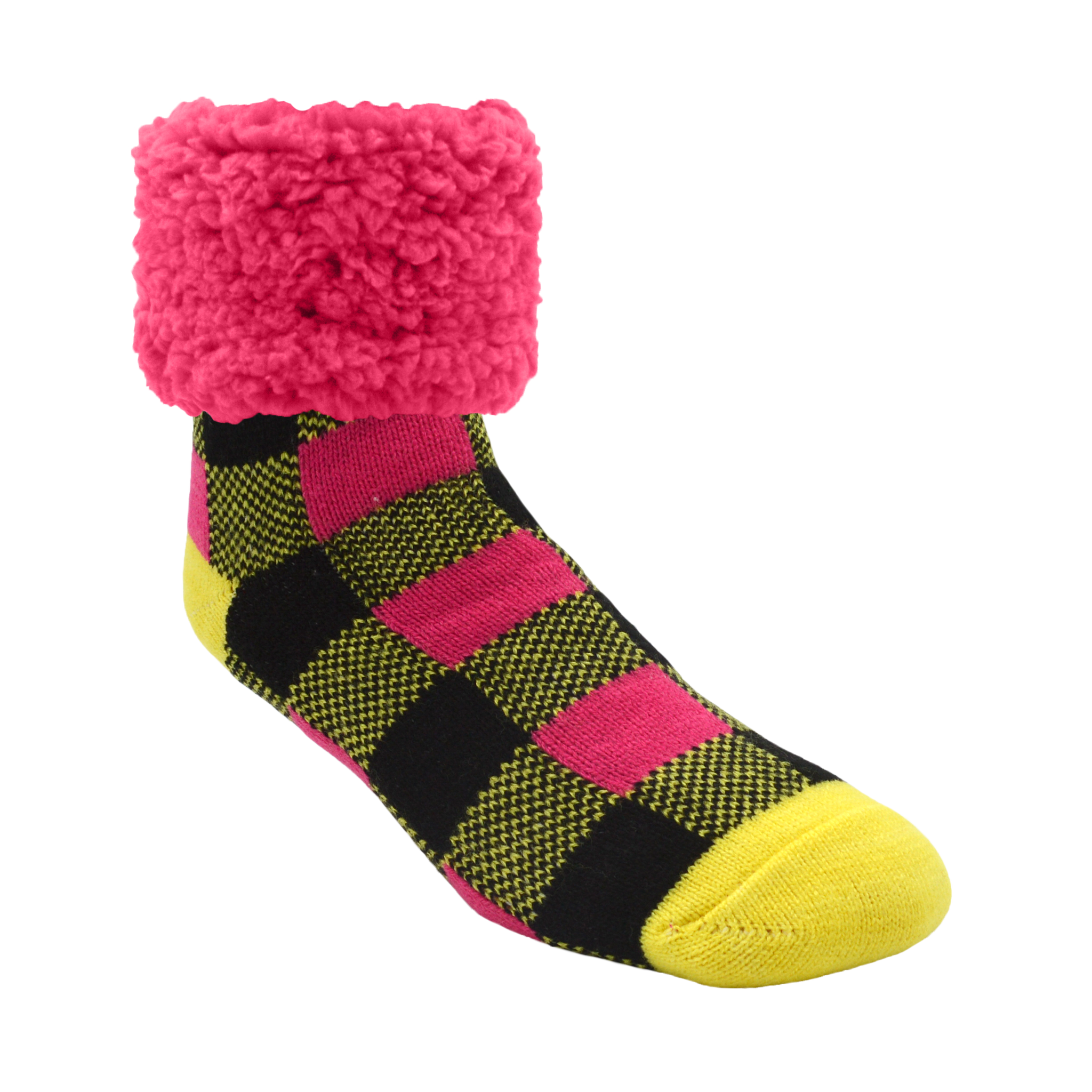 Classic Slipper Socks | Lumberjack Yellow