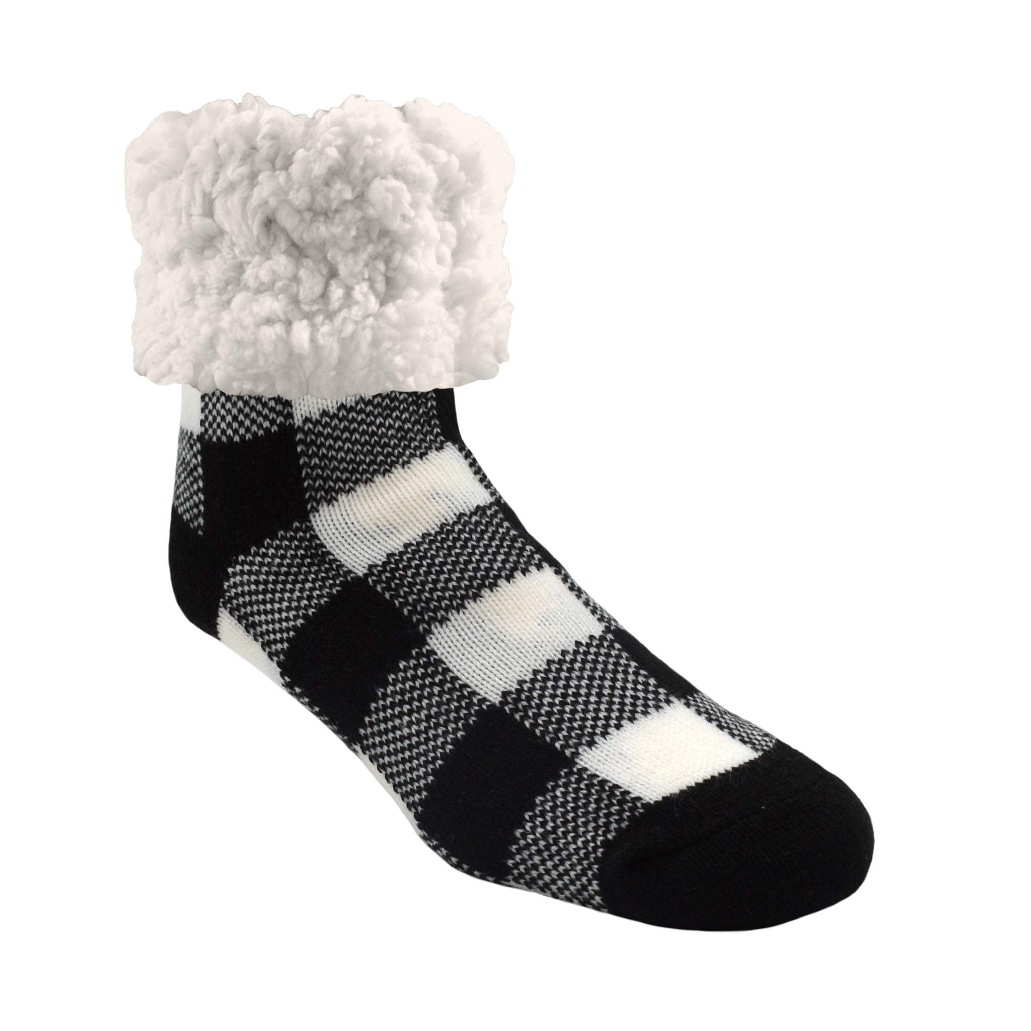 Classic Slipper Socks | Lumberjack White