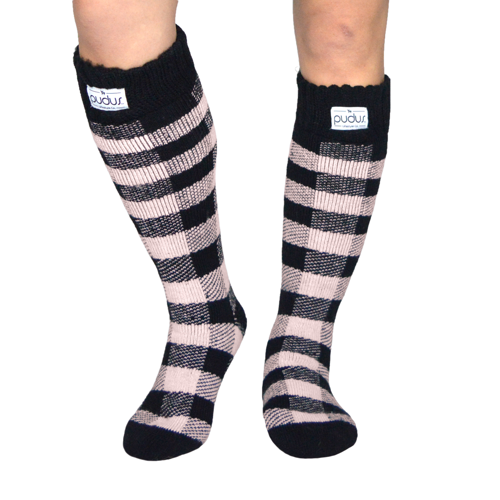 Pudus Lumberjack Blush Warm Boot Socks Tall