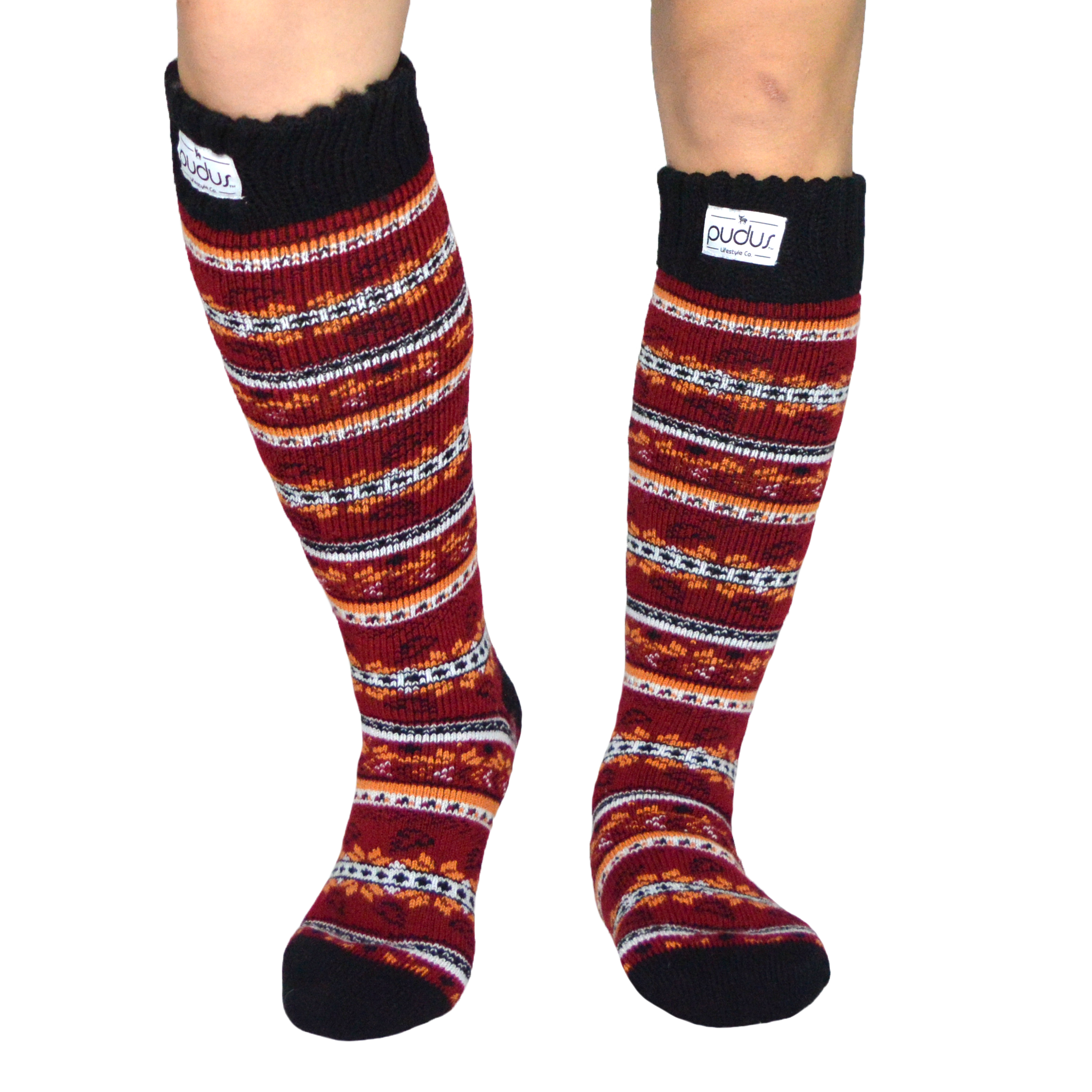 Boot Socks | Autumn Red | Tall