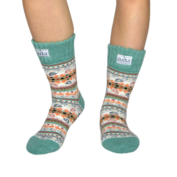 Autumn White Short Boot Socks With Fleece-Lining, Mid Calf Length Winter Thermal Socks