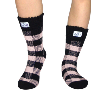 Pudus Lumberjack Blush Winter Boot Socks Short
