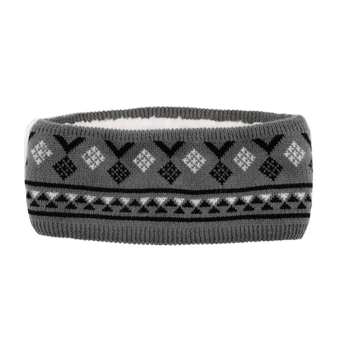 Winter Ear Warmer Headband | Geometric Black