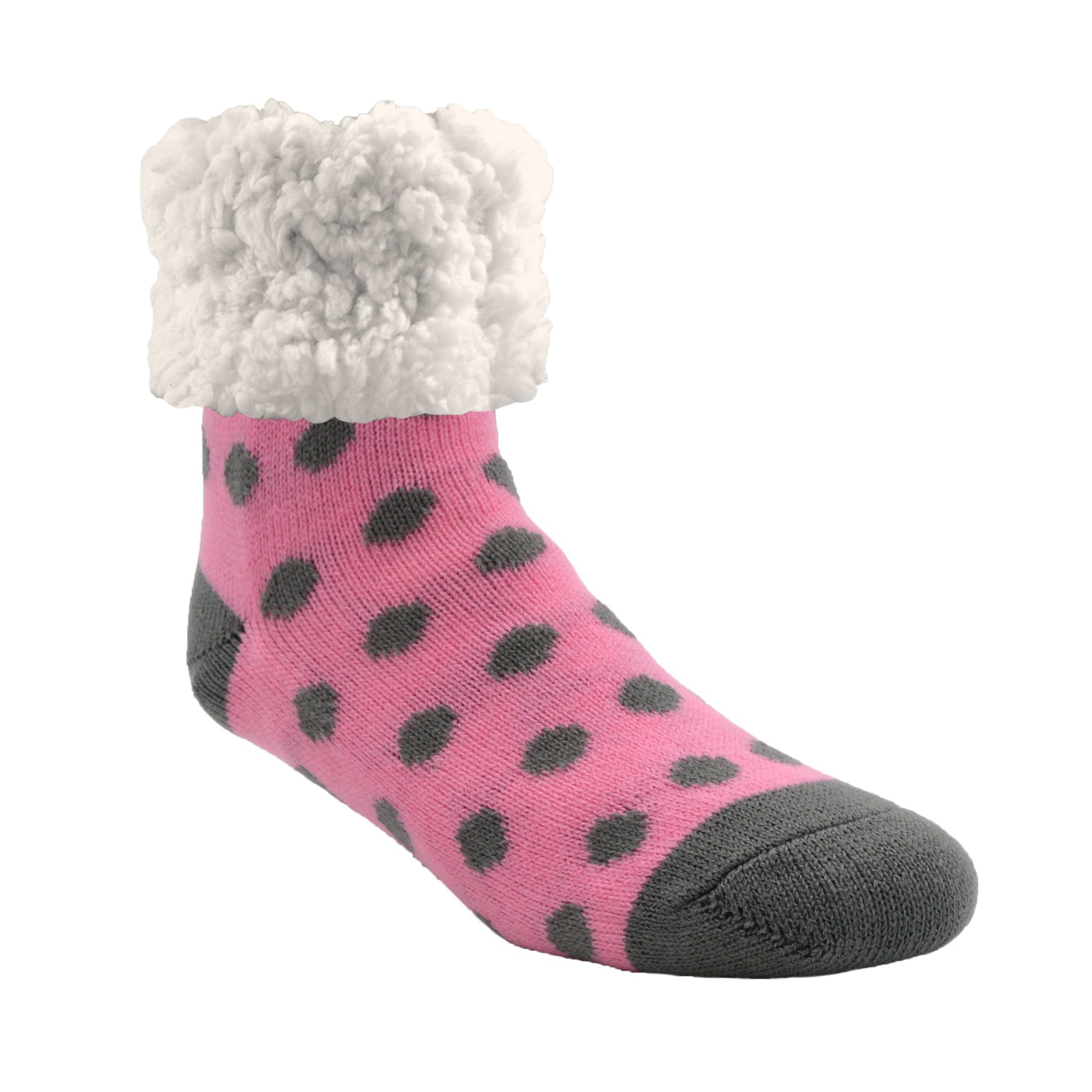 Classic Slipper Socks | Polka Dot Pink