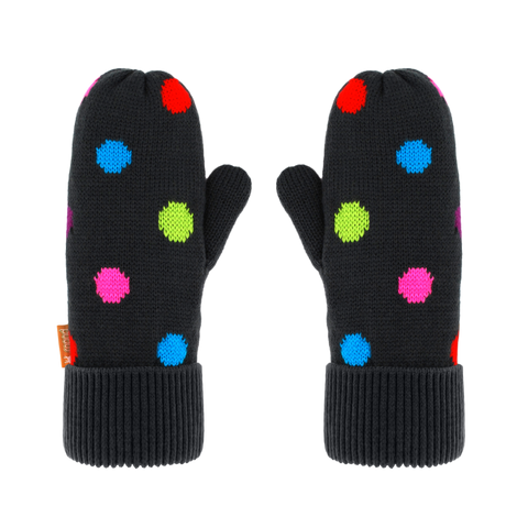 Kids Winter Mittens | Polka Dot Multi