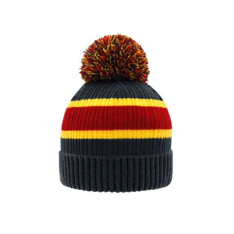 Toque Winter Hat | Stripe Grey