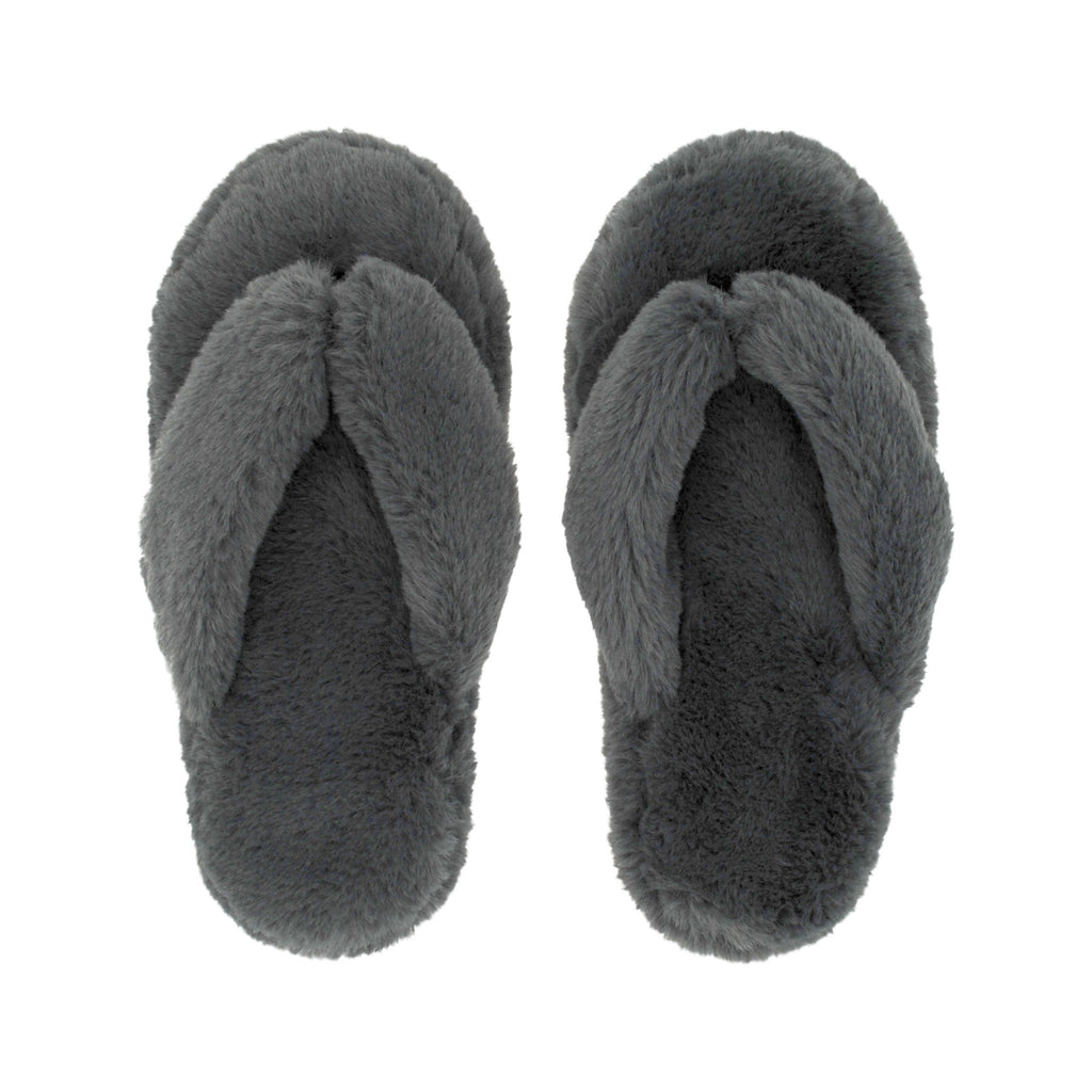 Cottontail Flip Flop Slippers | Grey