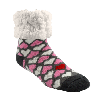 Classic Slipper Socks | Heart Valentines