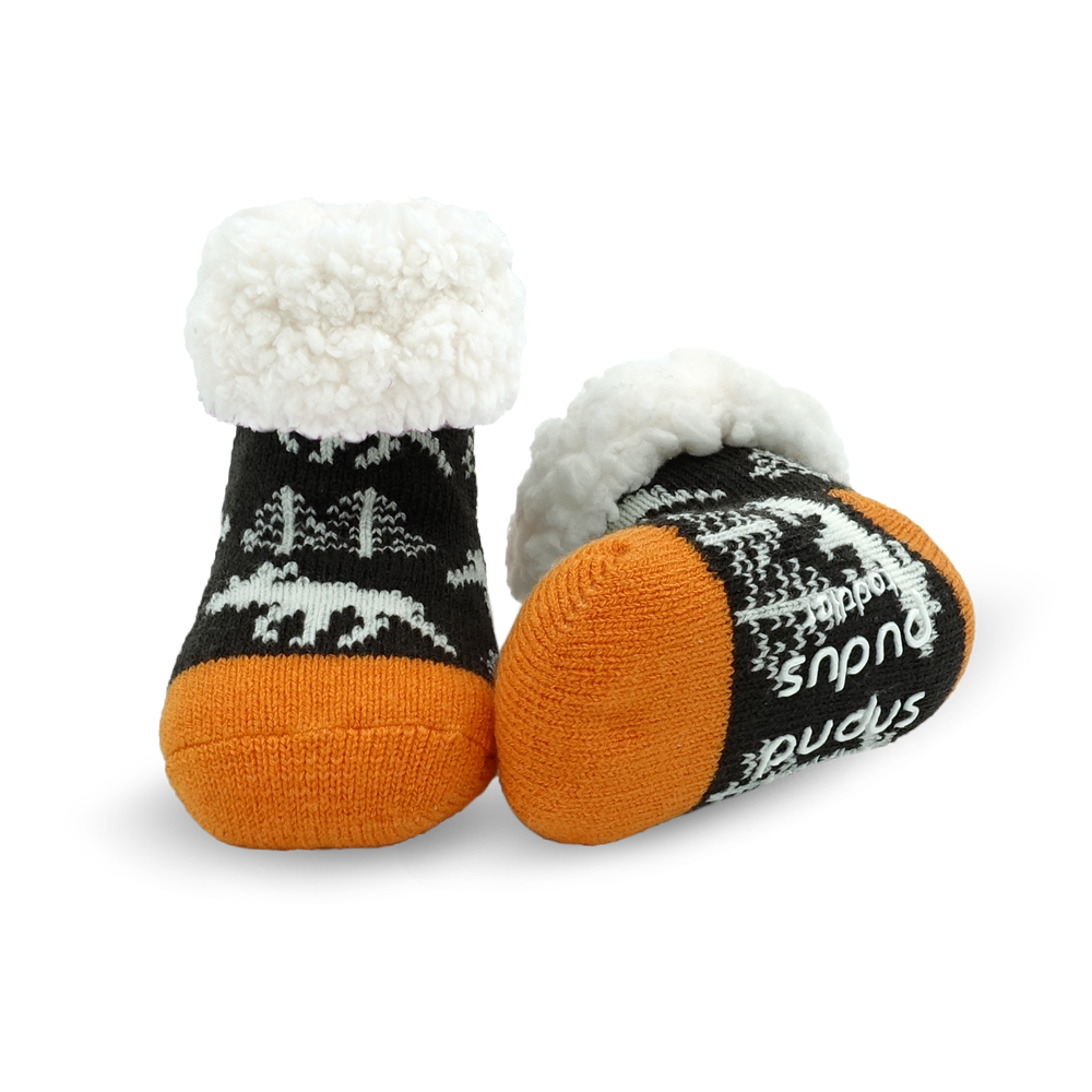 Toddler Classic Slipper Socks | Moose Grey