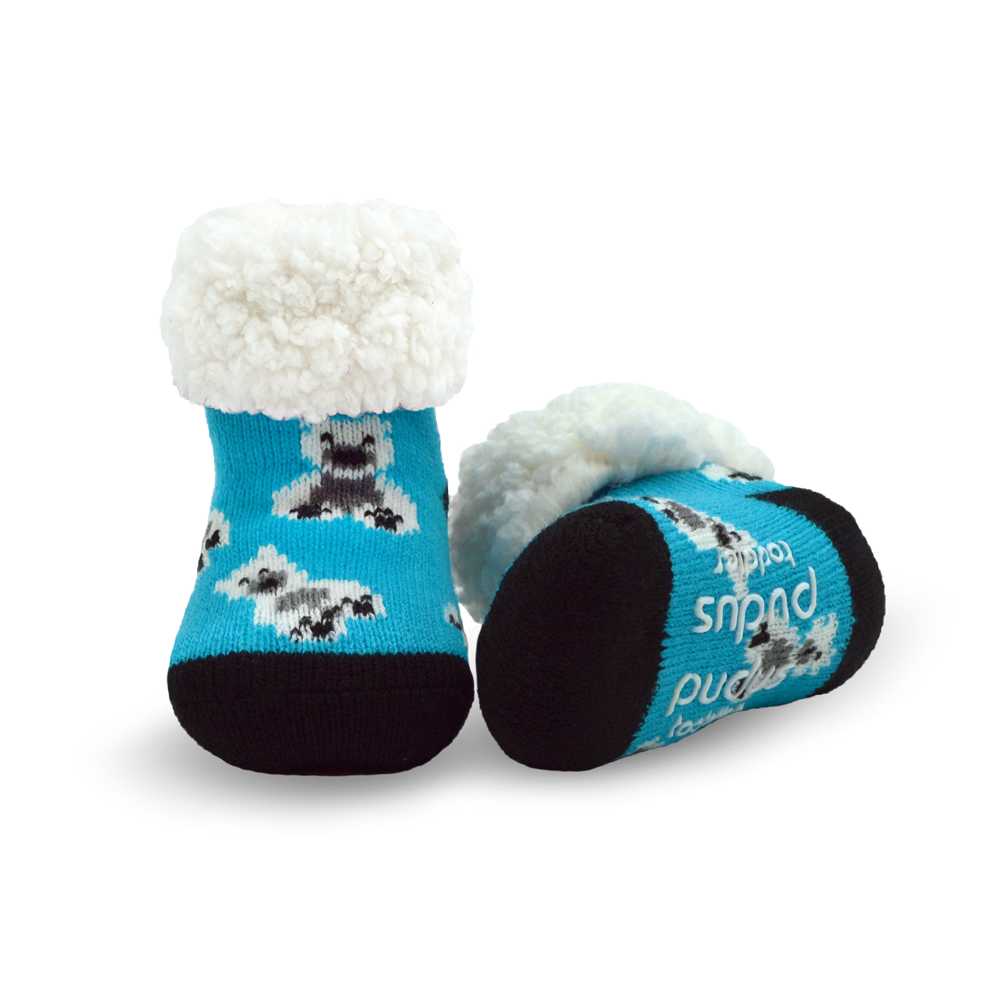 Toddler Classic Slipper Socks | Polar Bear Blue