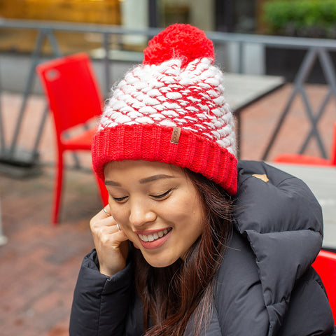 Bubble Toque Hat | Red
