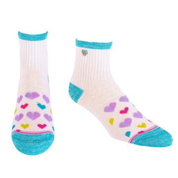 Bamboo Socks | Uptown Quarter Crew | Love Multi
