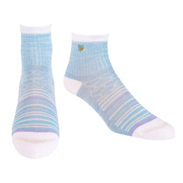 Bamboo Socks | Uptown Quarter Crew | Seaside Blue