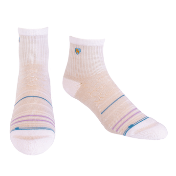 Bamboo Socks | Uptown Quarter Crew | Seaside Grey