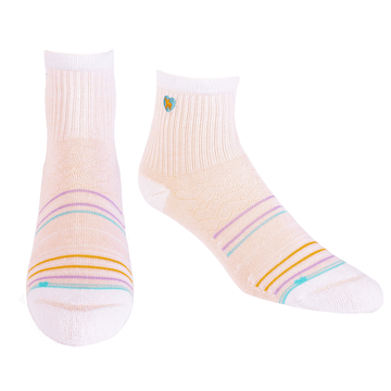 Bamboo Socks | Uptown Quarter Crew | Seaside Pink