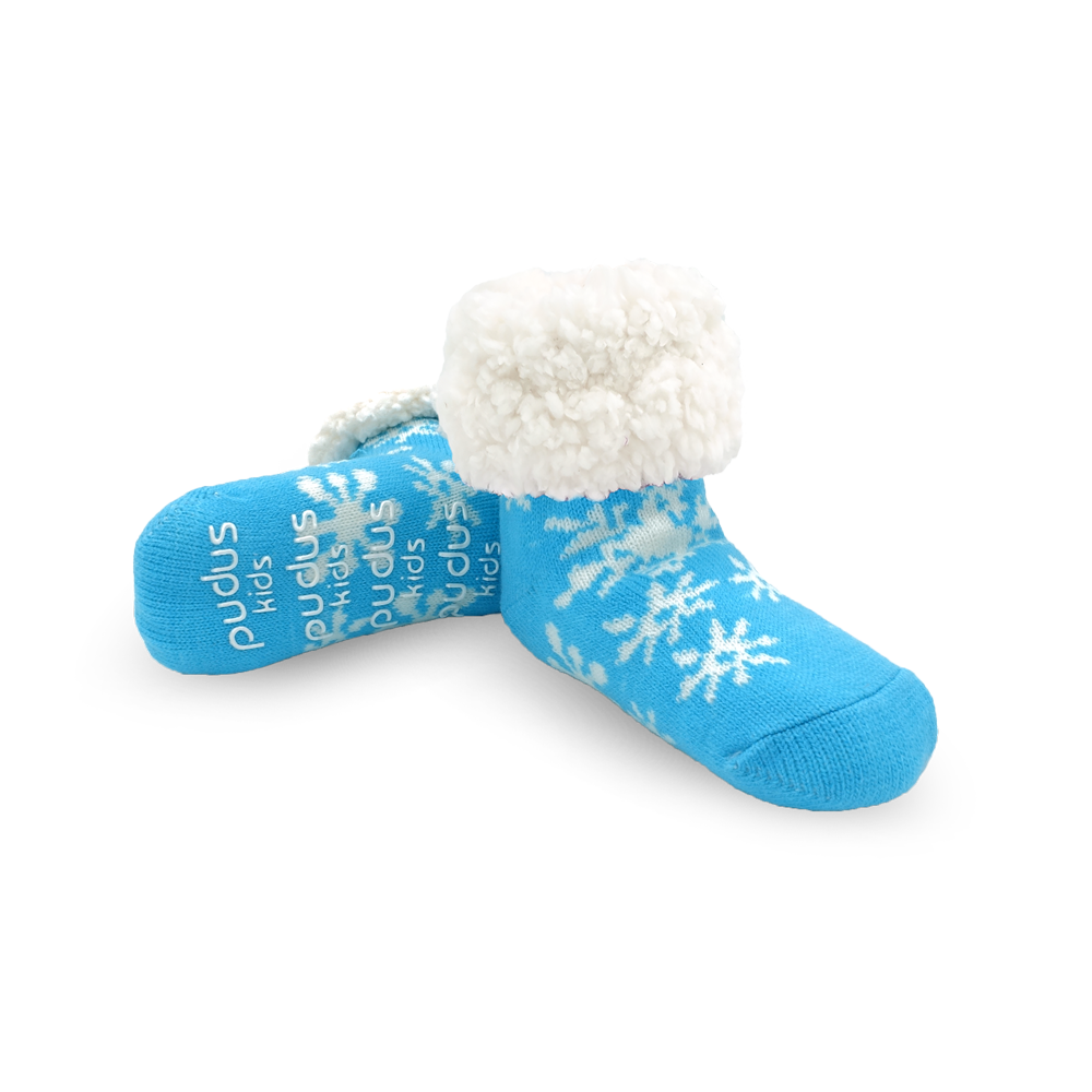 Blue Snowflake - Kids Classic Slipper Sock