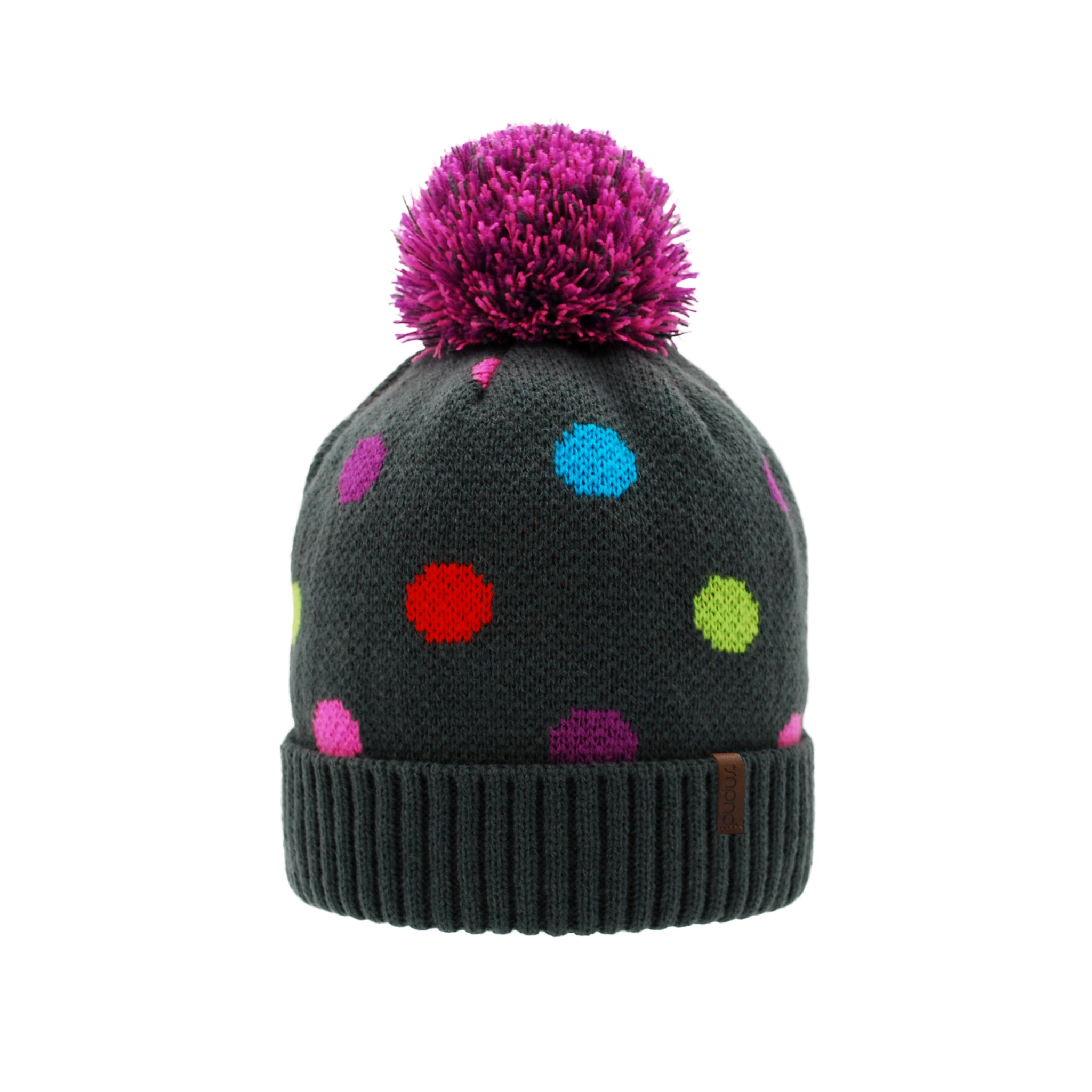 Toque Winter Hat | Polka Dot Multi