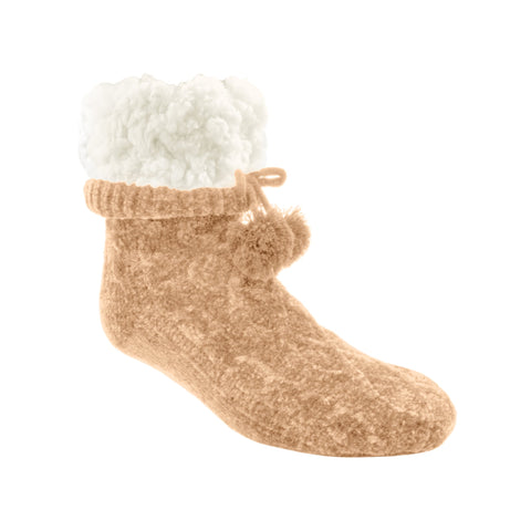 Classic Slipper Socks | Chenille Knit Sand