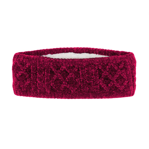 Chenille Knit Headband | Raspberry