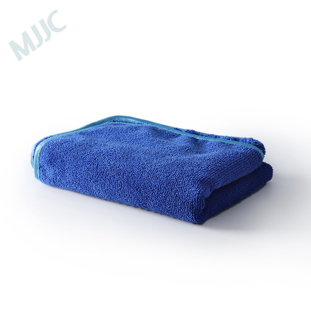 MJJC Blue Buffing and Drying Towel with Blue Trim 40X60CM 400GSM