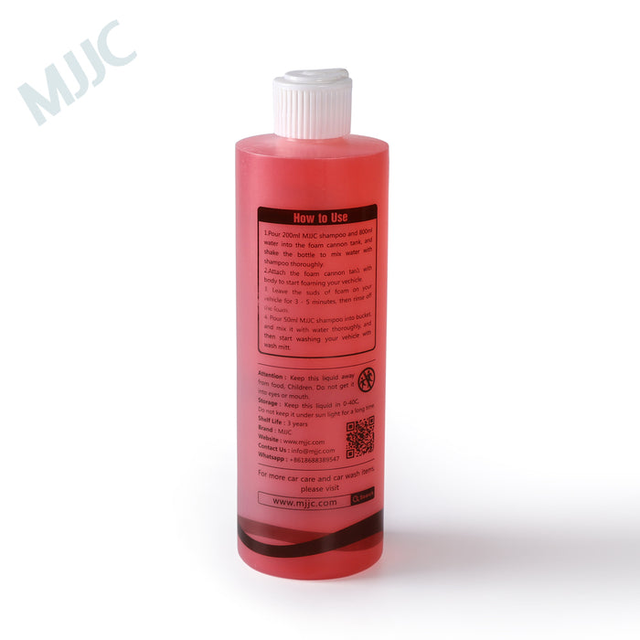 MJJC Brand Premium Concentrated Car Wash Shampoo Specially designed for foam Cannon and foam guns 500ML