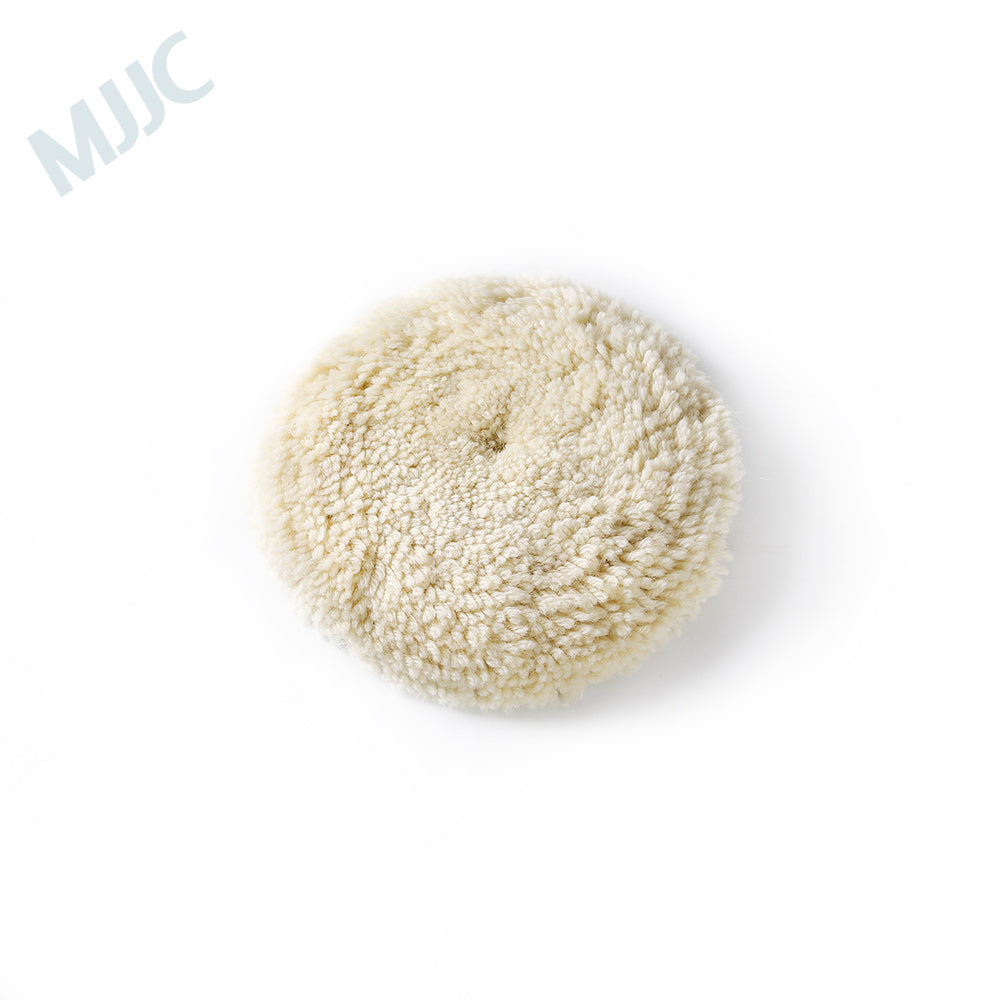 MJJC Car Care Wool Buffing Pad removes oxidized paint and scratches