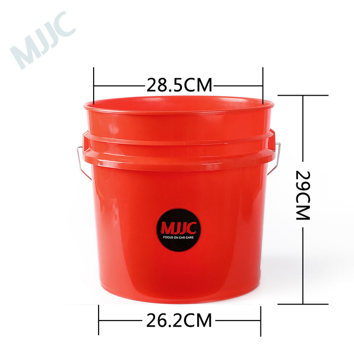 MJJC Detailing Car Wash Bucket with Grit Keeper and Seat Lid Kit