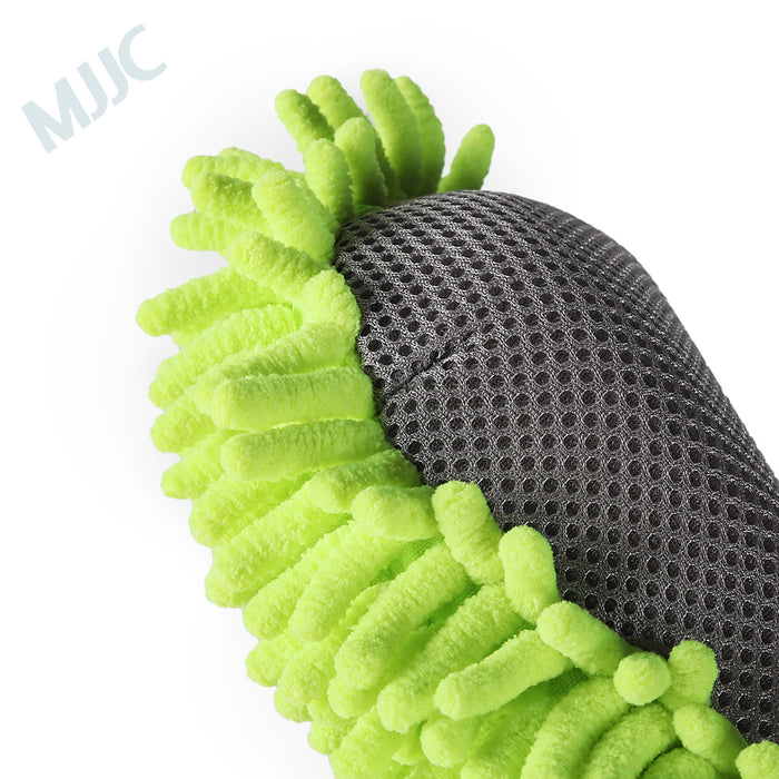 MJJC Motorcycle Washer Supplies Car Cleaning Mitt Wax Detailing Polishing Fiber Chenille Anthozoan Microfiber Car Wash Pad