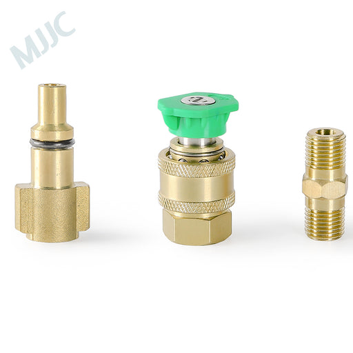 MJJC Short Water Spray Lance Wand Nozzle for Foreman Sterwins Lavor Hitachi Sorokin Copokin Hammer Elitech Pressure Washer