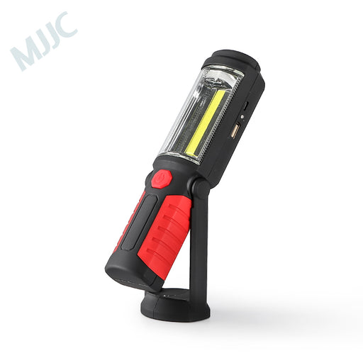 MJJC LED Work Light, Flashlights 200 Lumens Rechargeable COB Camping Light with Magnetic Base & Hanging Hook for Car Repairing