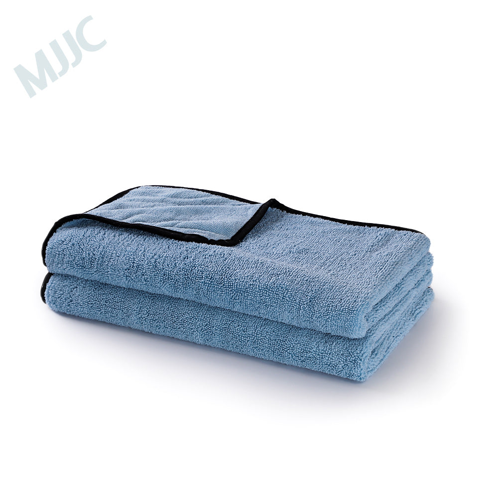 Blue Drying Towel Cloth with Silk Edge 450GSM 60x80cm