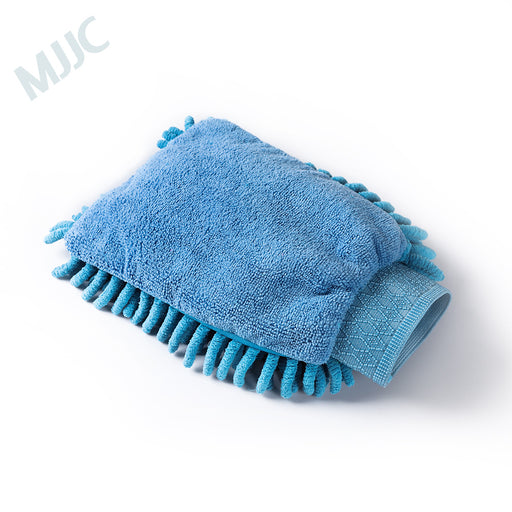 Microfiber and Chenille blue Wash Mitt