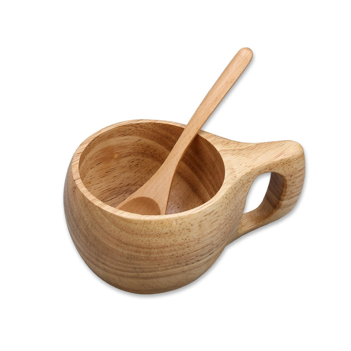 Original Wood made Coffee Cup with Spoon
