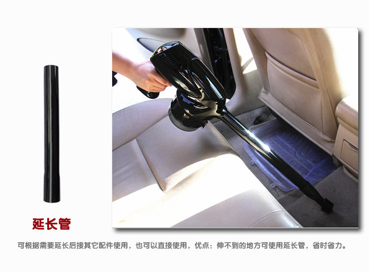 12V 100W Car Vacuum Super Suction, Real 100W 12Volt Car Vacuum Machine, Vacuum coins easily, no wonder to sunction dirt