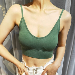 Toppick Backless Sport Bra Top Breathable Sports Bra Push Up Bra Running Yoga Gym Crop Top Seamless Brassiere Sport Femme Bh