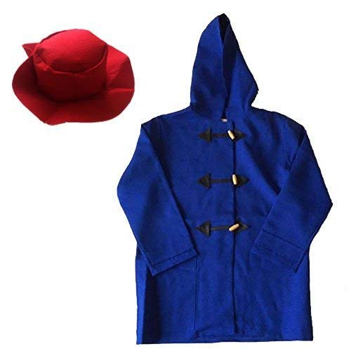 Paddington Boys Blue Duffle Coat & Red Hat