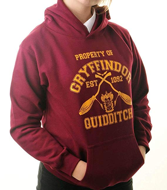 Harry Potter Hoodie Inspired Gryffindor Quidditch Team Jumper