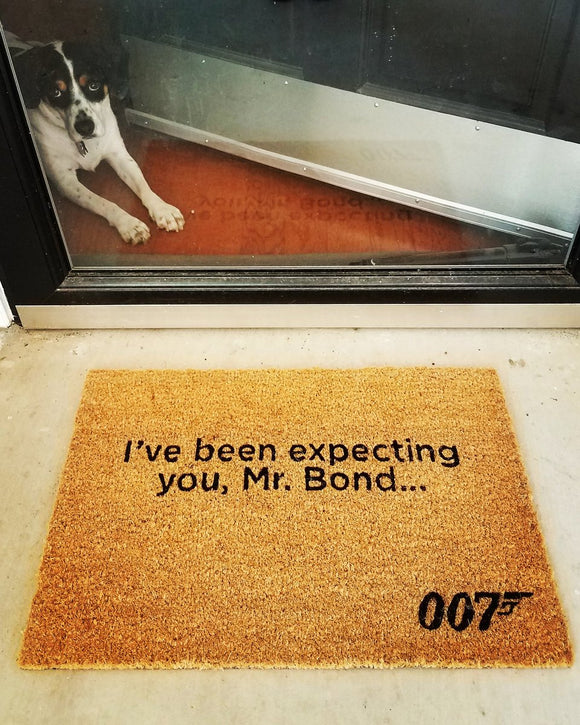 Official James Bond Ive Been Expecting You Doormat