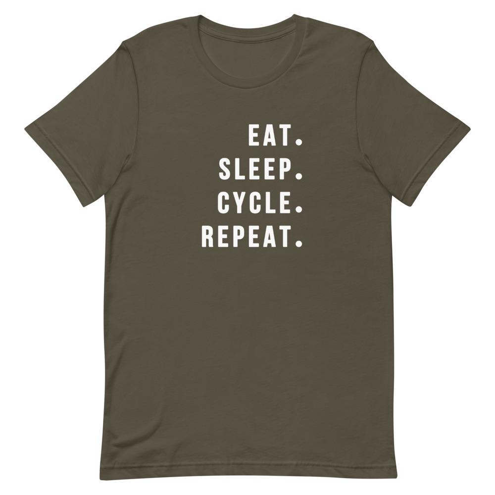 Eat Sleep Cycle Repeat Shirt That Is So Dad Army S