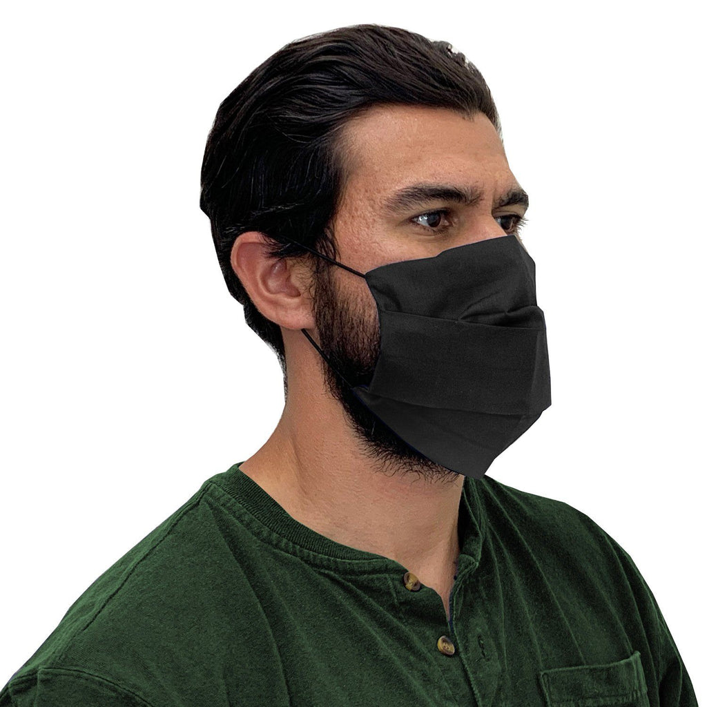 XL Face Mask- Reusable & Washable with Cotton Blend Fabric - Adjustable with Pocket Filter Face Mask Square Up Fashions Black 1 Individual