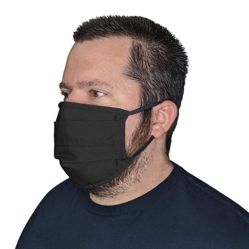XXXL Face Mask- Reusable & Washable with Cotton Blend Fabric Face Mask Square Up Fashions Black 1 Individual