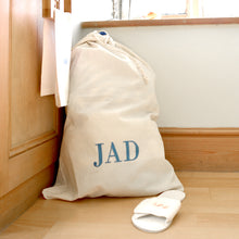 Load image into Gallery viewer, Natural Cotton Laundry Bag