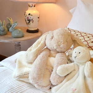 Huggles Rabbit with Blanket